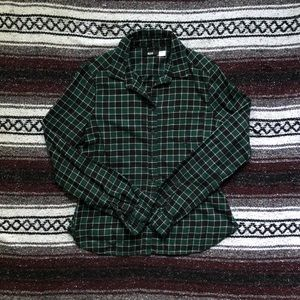 Fitted Flannel Button Down 👔